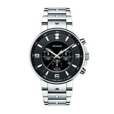 Movado® SE Pilot Men's Watch in Stainless Steel, available at #HelzbergDiamonds