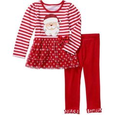 Healthtex Toddler Girls Holiday Skirted Top & Leggings Outfit Set