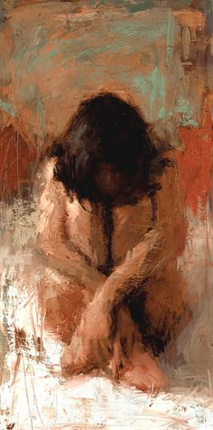 """ SANCTUARY ""  Henry Asencio Love this one - so screaming and emotional painting, saying so much... Loneliness, despair, fragility - it's all here."