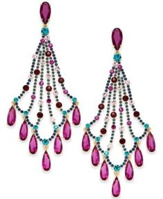 Givenchy crystal faceted open chandelier earrings 115 liked on kate spade new york 14k gold plated multi crystal chandelier earrings aloadofball Choice Image
