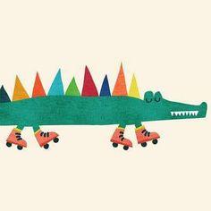 Ohh cute.... work by Budi Kwan  #budikwan #illustration #crocodile #cute by ohhdeer