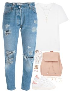 """🕊"" by daisym0nste ❤ liked on Polyvore featuring Yves Saint Laurent, Casetify, New Look, Eyevan 7285, adidas Originals, Levi's, Repossi, Tiffany & Co. and Michael Kors"