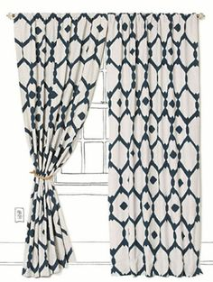 I want patterned curtains