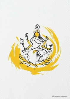 Shidhdatri 9 th Swaroop out of 9 Durga Artist Mahendra Nagvanshi Goddess Art, Durga Goddess, Hindus, Fabric Painting, Painting & Drawing, Indian Illustration, Indian Art Paintings, Hindu Deities, Hindu Art