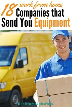 Here are several work from home companies that provide equipment, and most of them give you a computer! via Real Home Jobs Now Work From Home Companies, Online Jobs From Home, Work From Home Opportunities, Work From Home Tips, Online Work, Business Opportunities, Earn Money From Home, Earn Money Online, Way To Make Money