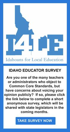 RUSS FULCHER: Common Core Standards are Not the Answer | Idahoans For Local Education  Fed. Govt. over education