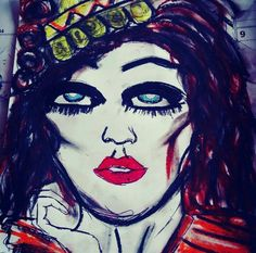 woman colour art oilpainting
