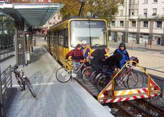 Light rail & bicycle in Stuttgart. Click to enlarge and visit the slowottawa.ca boards >> http://www.pinterest.com/slowottawa/