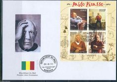 Mali 2013 Pablo Picasso Sheet First Day Cover | eBay