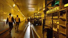 Voorbereidende werkzaamheden renovatie Maastunnel in volle gang