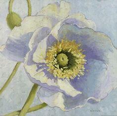 Shirley Novak - White Poppy.. a flower of the Cancer sign.