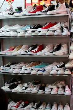 Basically, I want every color of high top Converse ever made. My closet will one day look similar to this.