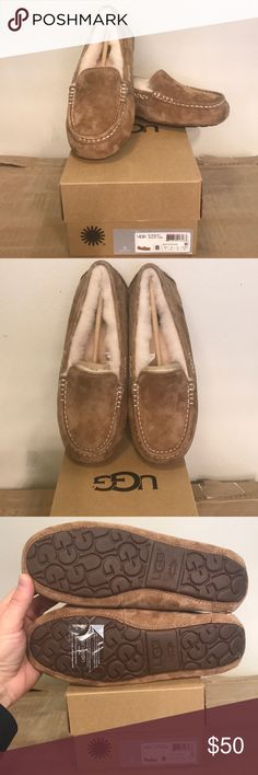 UGG Women's Ansley Chestnut New in box, authentic and unworn. UGG Ansley Chestnut indoor/outdoor slipper  It is another perfect item for the closet that demands the best craftsmanship and material for her Slipper collection. Half price is a great deal and generally they don't last long. UGG Shoes Slippers