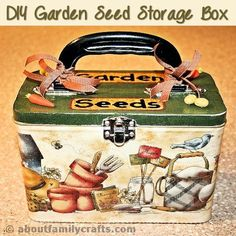 DIY Garden Seed Storage Box - Getting ready to plant my garden usually means a little more than digging up the dirt. It takes planning and organizing my seeds - that is how I came up with this fun DIY gardening project. (http://mothers-home.com/diy-garden-seed-storage-box/)