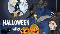 Develop and rule your own halloween city.