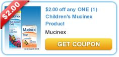 $2.00 off any ONE (1) Children's Mucinex Product