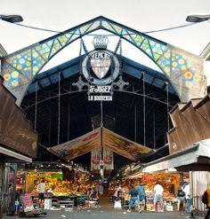 La Boqueria market entrance Barcelona via Gardenista