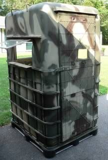 Whitetail Deer Hunting - built another blind - guys,i just finished this blind . a landowner saw my blind on wheels that i built a while back(it was Bow Hunting Tips, Bow Hunting Deer, Quail Hunting, Coyote Hunting, Turkey Hunting, Pheasant Hunting, Archery Hunting, Deer Camp, Duck Hunting Blinds