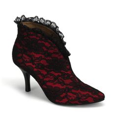 Bordello Burlesque Shoes Beauty Red Boot