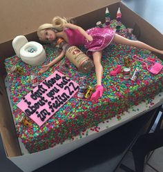 Drunk Barbie cake                                                       …