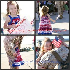 Marine Corps Homecoming: My baby girl waited so long for this day. It was the day her Daddy returned home from a war zone. Homecomings are the best part of a deployment! (Marines, Support the Troops, All American, Homecoming, Military)