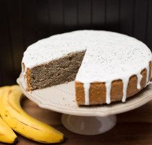 Banánovo-makový koláč