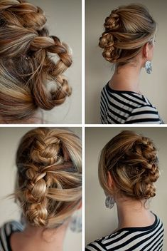 Triple rolled plait hairstyle #braids