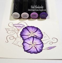 Tutorial Tuesday Spectrum Noir Markers and Pencil Tutorial by Heidi Blankenship Blending Markers, Color Blending, Card Making Inspiration, Making Ideas, Noir Color, Copic Markers Tutorial, Spectrum Noir Markers, Coloring Tips, Alcohol Markers