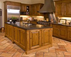Maybe It's Just Mewithout All The Grout Lines Leading Your Eye Interesting Kitchen Floor Designs Design Ideas