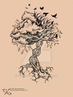 I like this type of drawing and love my tree of life with birds
