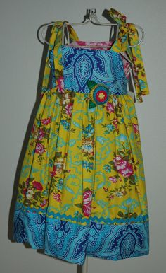 Floral Knot Dress Size 56 by mickiesmuse on Etsy, $48.00