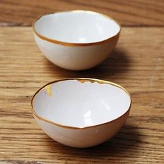 gold glazed rim bowl by Roost Living