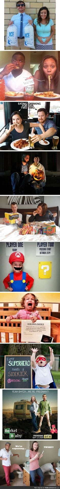 Pregnancy announcements...these are funny