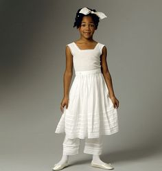 Butterick Sewing Pattern Children's/Girls' Drawers, Underskirt and Hoop Skirt Skirt Patterns Sewing, Costume Patterns, Little Girl Dresses, Flower Girl Dresses, Baby Dresses, Girls Dresses, Hoop Skirt, Costume Dress, Fancy Dress