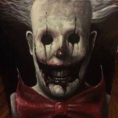 """HaHa"" by Zach Dunn Clown Horror, Arte Horror, Horror Art, Horror Movies, More Gore, Creepy Monster, Creepy Clown, Creepy Faces, Scary Art"