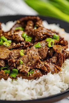 Korean Bulgogi, Korean Beef, Korean Food, Chinese Food, Asian Cooking, Easy Cooking, Beef Dishes, Tasty Dishes, Deserts