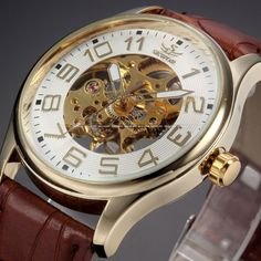 New Luxury Leather Strap Mechanical Watch