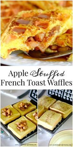 A delicious apple stuffed breakfast that is so easy but decadent. These apple stuffed french toast waffles can also be frozen for later! Apple Stuffed French Toast Waffles are an easy recipe you can make with the kids...perfect for fall!~ http://serendipityandspice.com