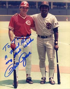 Pete Rose / Tony Gwynn Baseball lost a legend. Famous Baseball Players, Best Baseball Player, Baseball Star, Mlb Players, Baseball Cards, Cincinnati Reds Baseball, Pete Rose, Baseball Pictures, Sports Figures