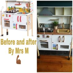 Kitchen Cart, Diy Kitchen, Kitchen Cabinets, Maila, Montessori Baby, Girl Room, Kids, House, France Bleu