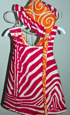 Reversible Dress bloomers and reversible hat size by mickiesmuse, $68.00