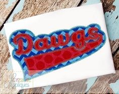 Dawgs Double Vintage Stitch Applique - 6 Sizes! | What's New | Machine Embroidery Designs | SWAKembroidery.com Creative Appliques
