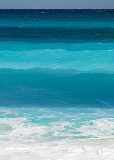 Magníficos tonos del mar.