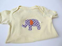 18 Mo Elephant Applique Onesie  Purple by NecessaryCuteness, $15.00