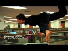 Office yoga like you've never seen before...