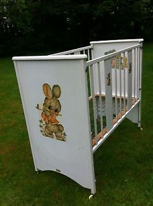 Vintage 1960s 1970s Bo Peep Wooden Easy Assemble Baby Crib Cot Collect  Glasgow
