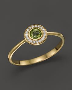 IPPOLITA 18K Lollipop® Mini Ring in Peridot with Diamonds