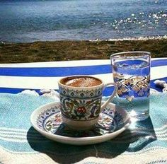 Greek coffee with a view