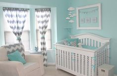 I don't plan on doing a nursery ever again, but I love the colors and the curtains for elsewhere.