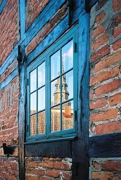 a tower in the window - Ystad, Scania
